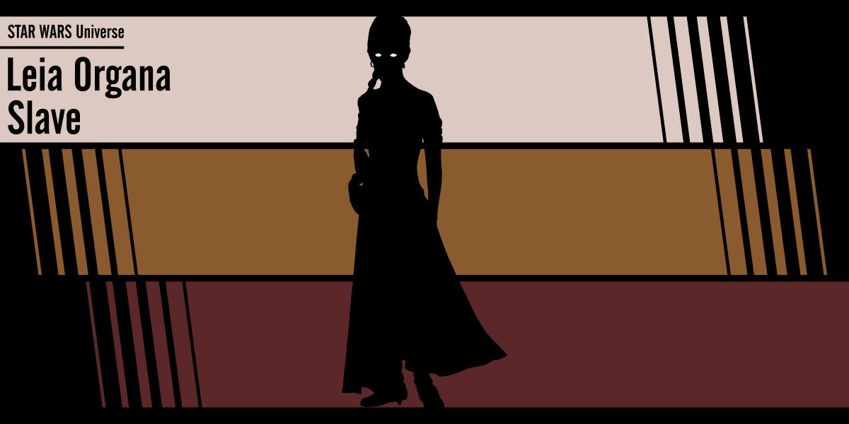 Fan art Star Wars: Leia Organa Slave